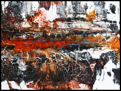Aufbruch, Acryl auf Leinwand, 80x100 cm, (c) 2014 Rainer Bergmann M.A.