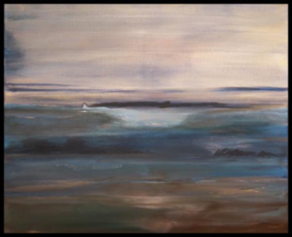 Stille, Acryl auf Leinwand, 50 x 60 cm, (c) Rainer Bergmann M.A.