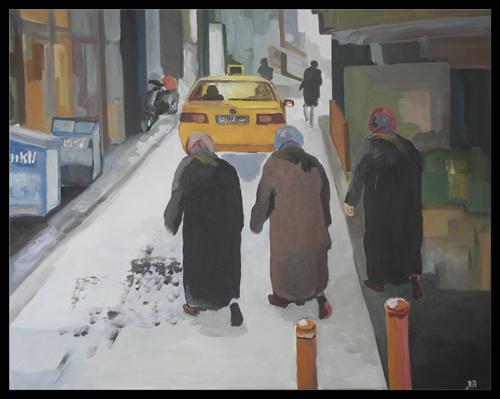 morgens in Istanbul, Acryl auf Leinwand, (c) 2014, Rainer Bergmann M.A.