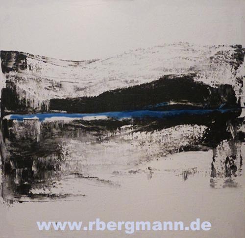 Wintereinbruch Acryl auf Leinwand, 80 x 100 cm, 2014 (c) Rainer Bergmann M.A.