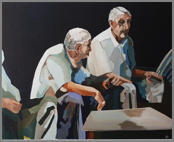 Denk_ich_an_Istanbul, Acryl auf Leinwand, 80 x 100 cm (c) 2016 Rainer Bergmann M.A.