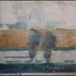 Serie Wegbilder - Lebenspfade, 40 x 40 cm