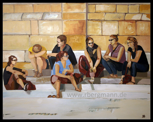 Summertime in Istanbul, Acryl auf Leinwand, 80x100 cm, (c) 2014 Rainer Bergmann M.A.