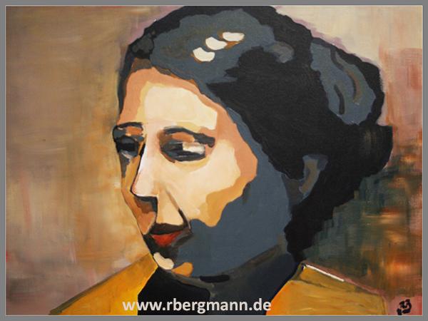 Innere Einkehr, Acryl auf Leinwand, 60 x 80 cm, (c) Rainer Bergmann M.A.