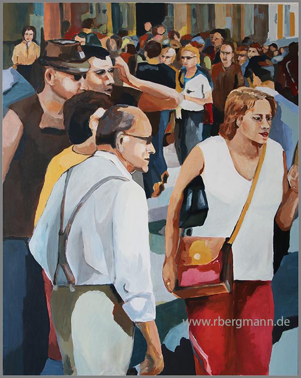 Stadtszene in Barcelona, von Rainer Bergmann M.A.
