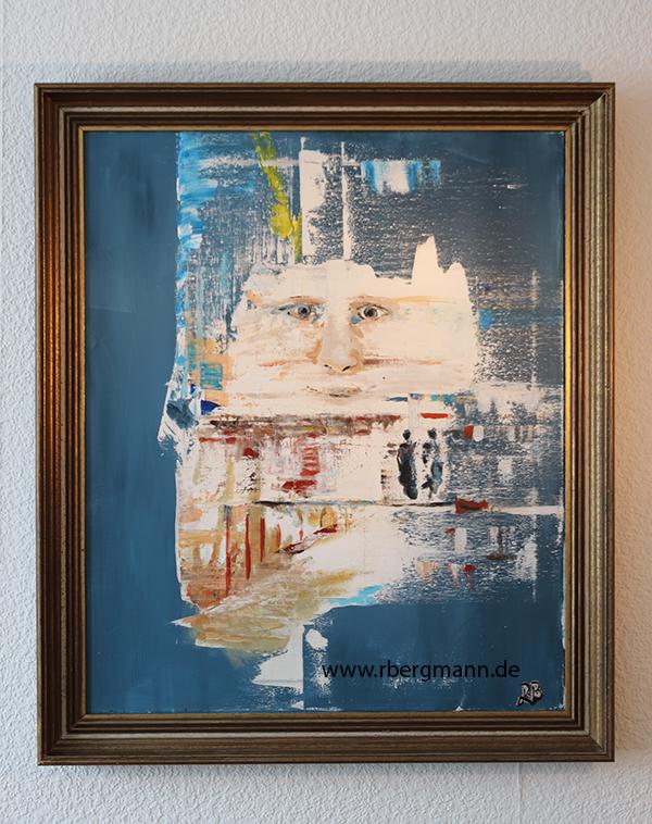 Der Blick, Acryl auf Leinwand, (c) 2020 Rainer Bergmann M.A.